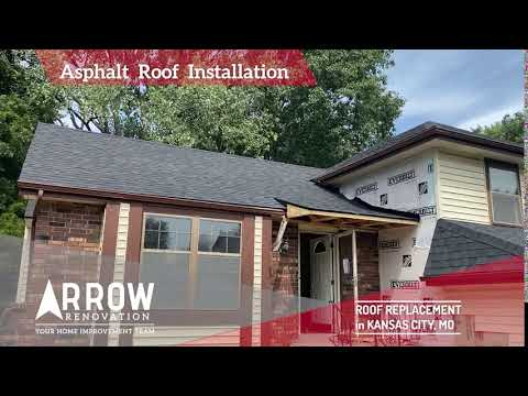 Asphalt Roof Replacement on a Home in Grandview, MO
