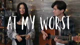 At My Worst - Pink Sweat$ - Vocal and acoustic guitar cover Ft. Renee Foy
