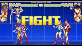 Sailor Moon,sailor Moon Team Arcade Mugen.