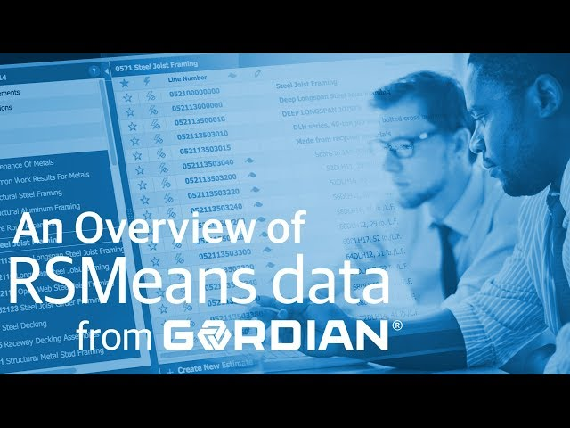 Why RSMeans data from Gordian?