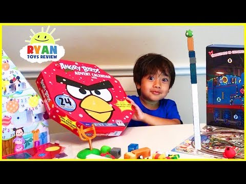 Ryan Opens Advent Calendar with Angry Bird and Thomas & Friends