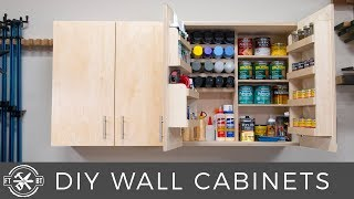 DIY Wall Cabinets With 5 Storage Options | Shop Organization