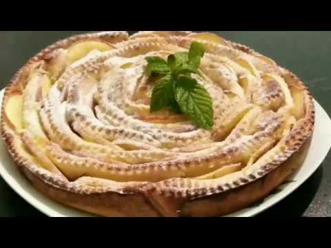 Яблочный пирог  Чайная роза  Apple pie