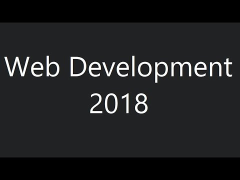 Web Development in 2018 - A roadmap