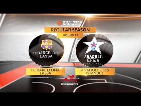EuroLeague Highlights RS Round 18: FC Barcelona Lassa 89-78 Anadolu Efes Istanbul