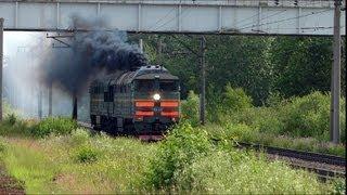 Тепловоз 2ТЭ116-1673, станция Ручьи.