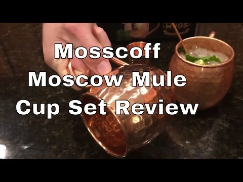 Video Mosscoff Moscow Mule Copper Mug Set Review