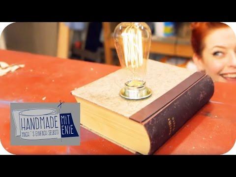 Buch-Lampe    Handmade mit Enie - Mach's einfach selbst   sixx