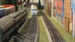 Railfanning HO Scale RDCs at 6 o'clock