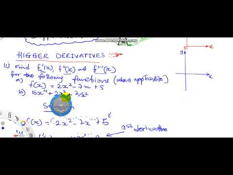 Higher Derivatives Practice Examples1&2 Further Mathematics for WASSCE Calculus Differentiation