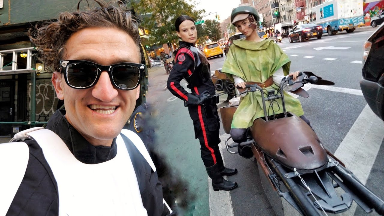 STAR WARS SPEEDERS IN NYC making of!! thumbnail