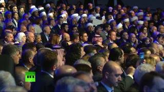 Лавров выступает с приветственным словом Путина на Сирийском конгрессе в Сочи