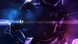Hi-tech background, futuristic background video, network geometric background, Royalty Free Footages
