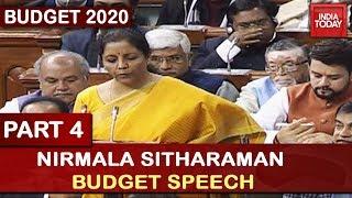 Nirmala Sitharaman Budget Speech 2020 | Part 4