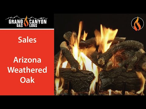 Grand Canyon Gas Logs - Arizona Weathered Oak