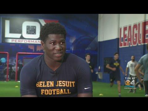 CBS4 Nat Moore Trophy Profile:  Belen Jesuit's Don Chaney Jr. Is Standout Athlete