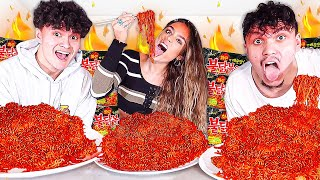 EXTREME SPICY NOODLE CHALLENGE w/ Sommer Ray