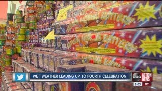 Wet weather leading up to July 4 celebration