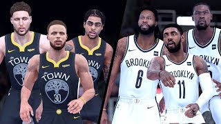 NBA 2K19 - Golden State Warriors (D-Lo) vs. Brooklyn Nets - Full Gameplay (Updated Rosters)