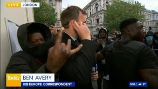 video: London Black Lives Matter protest: Demonstrations turn violent outside Downing Street as 13 people arrested