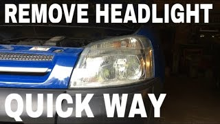 Remove headlight without having to remove bumper Citroen Berlingo / Peugeot Partner
