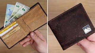 Nachhaltig und modern! Klassische Geldbörse (Slim Wallet) aus KORK von Natventure // DEUTSCH