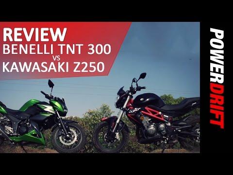 Benelli TNT 300 vs Kawasaki Z250 l Review l PowerDrift