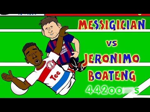 💫Lionel Messi vs Jerome Boateng CONSPIRACY💫(Fall Goal Barcelona Bayern Munich 3-0 2015 Parody)