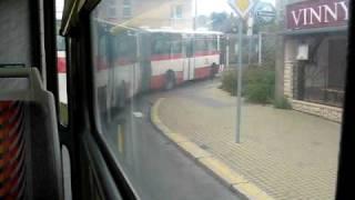 preview picture of video 'Camera test video / Autobusy opět blokují tramvaje v Kobylisích'