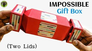 Impossible Gift Box With Two Lids (Unique Design) - DIY Tutorial - 888