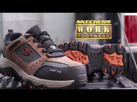 77183 NVBK Greetah Composite Toe Skechers Safety Shoes
