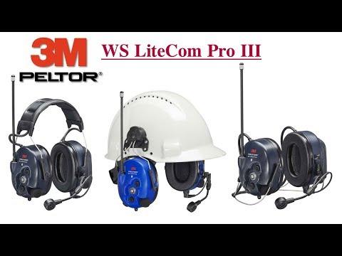 3M Peltor WS LiteCom Pro III - Gehörschutz Headset mit DMR Funk und Bluetooth