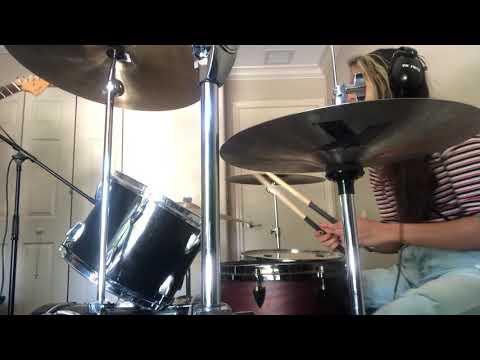 Teaching advanced drum fills to my student.