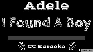 Adele   I Found A Boy CC Karaoke Instrumental Lyrics