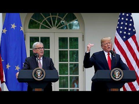 Αναστέλλεται ο «εμπορικός πόλεμος» μεταξύ ΗΠΑ και ΕΕ