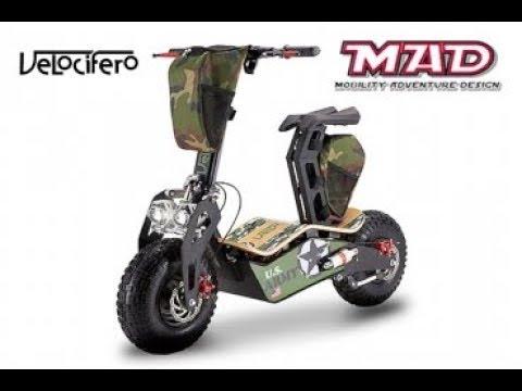 "1600w 48V MAD 1600 ELEKTRO SCOOTER Bike 6"" | VELOCIFERO"