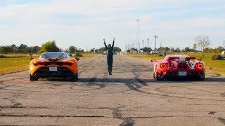McLaren 720S vs Ford GT Drag Race