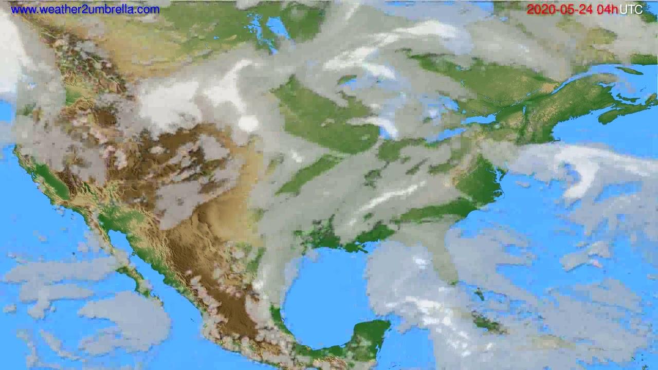 Cloud forecast USA & Canada // modelrun: 12h UTC 2020-05-23