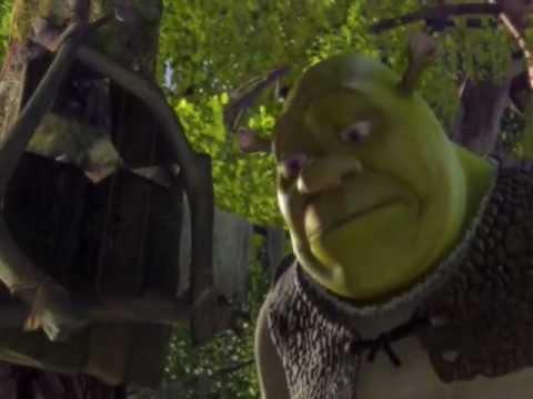 "Shrek (Шрэк ) - монтаж нарезка  к песне- ""Я иду по этим лужам"""