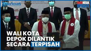 Momen Pelantikan Terpisah Wali Kota & Wakil Walkot Depok, Idris Dilantik di RS karena Covid-19
