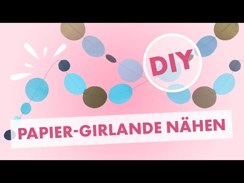 Anleitung: Wanddekoration Girlande mit Papier nähen - Deko schnell gemacht
