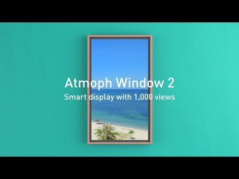 Atmoph Window 2 Smart Display in the Shape of a Window-GadgetAny