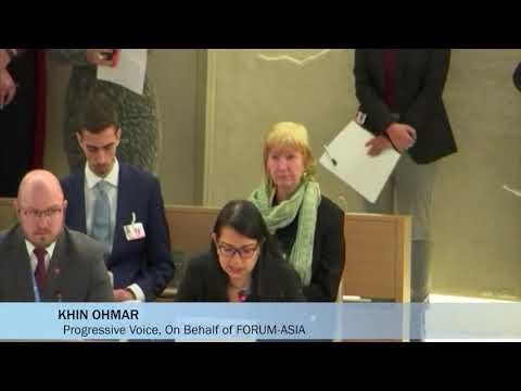 HRC43: Interactive Dialogue with the Special Rapporteur on the situation of human rights in Myanmar