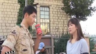 the descendants -  SongSong Couple Behind The Scene Descendants of The Sun Song Joong Ki  Song Hye
