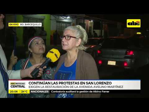 Continúan las protestas en San Lorenzo
