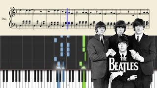 The Beatles - Yesterday - Piano Tutorial + SHEETS