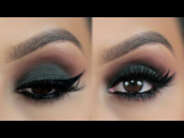 Maquillaje-ojos-ahumados-en-verde