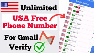 How to Get Unlimited Free USA Phone Number for Gmail Verify || Verify Gmail Account with US Number