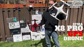 Half Chrome: Syma X8 Pro GPS drone vs. the original X8