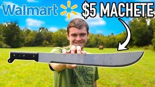 Testing the CHEAPEST Walmart MACHETE!